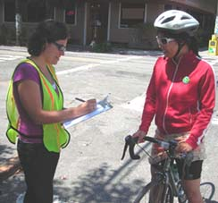 Bike survey being performed