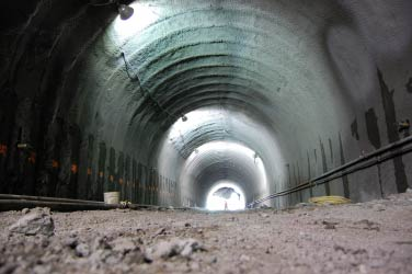 The installation of structural supports is complete and the tunnel is passable for the first time in decades.