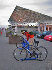 Bike racks at LarkSpur Ferry